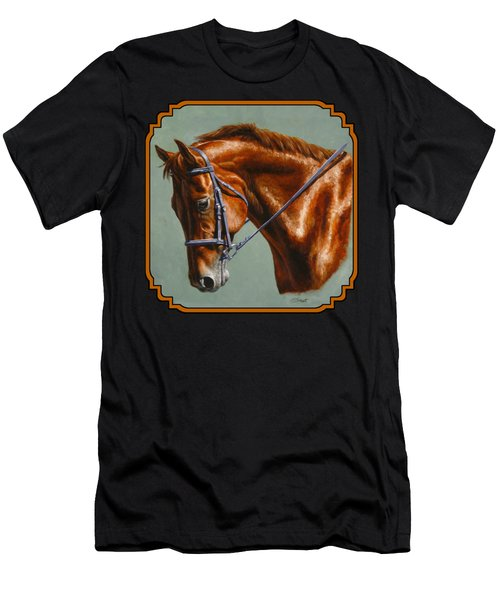 Horse Painting - Focus Men's T-Shirt (Athletic Fit)