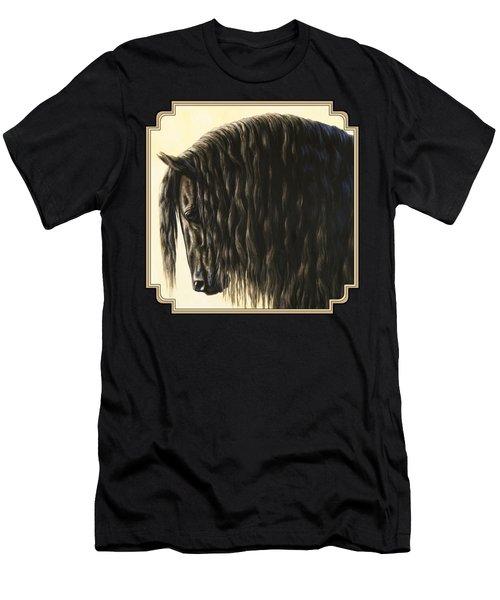 Horse Painting - Friesland Nobility Men's T-Shirt (Athletic Fit)