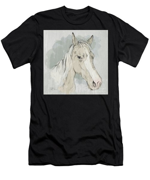 Horse Portrait-farm Animals Men's T-Shirt (Athletic Fit)