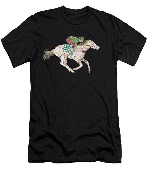 Horse Racer Men's T-Shirt (Athletic Fit)