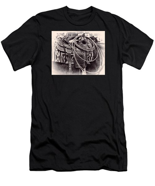 Horse Saddle Men's T-Shirt (Athletic Fit)