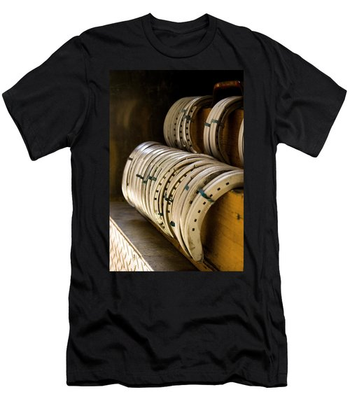 Men's T-Shirt (Slim Fit) featuring the photograph Horse Shoes by Angela Rath