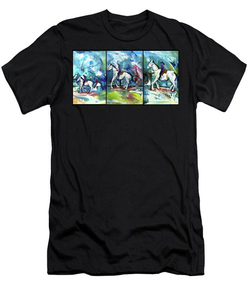 Horse Three Men's T-Shirt (Athletic Fit)