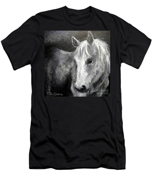 Horse With The Mona Lisa Smile Men's T-Shirt (Athletic Fit)