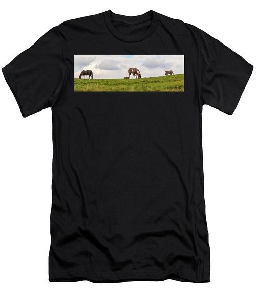 Horses And Clouds Men's T-Shirt (Athletic Fit)