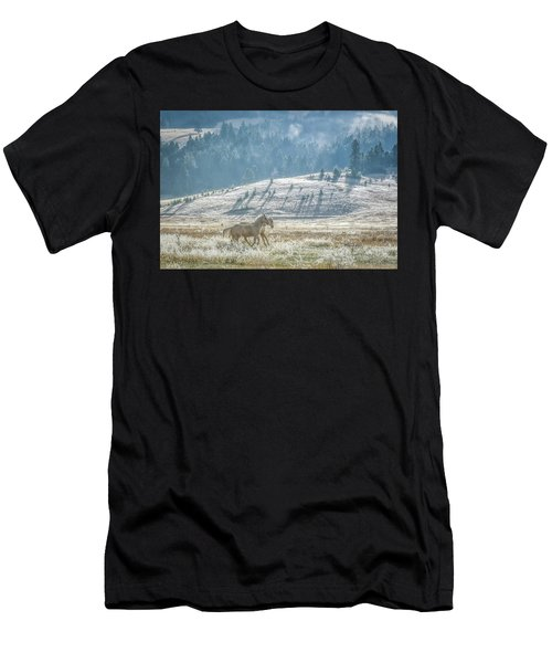 Horses In The Frost Men's T-Shirt (Athletic Fit)