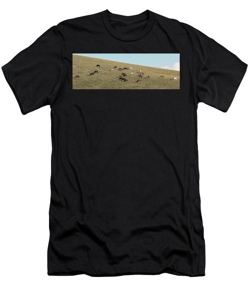 Horses On The Hill Men's T-Shirt (Athletic Fit)