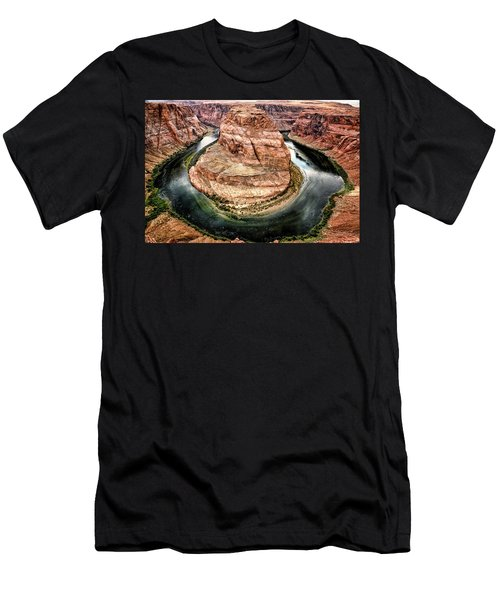 Men's T-Shirt (Athletic Fit) featuring the photograph Horseshoe Bend Colorado River by Gigi Ebert