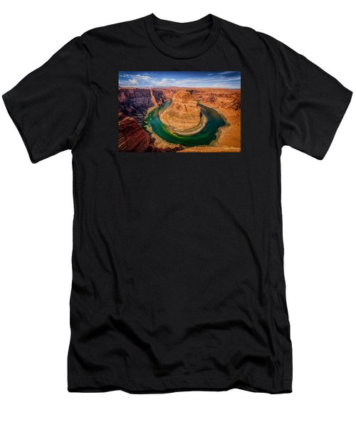 Men's T-Shirt (Athletic Fit) featuring the photograph Horseshoe Bend by Rikk Flohr