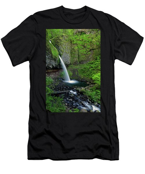 Horsetail Falls Waterfall Art By Kaylyn Franks Men's T-Shirt (Athletic Fit)
