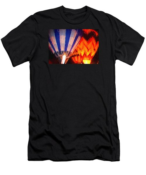 Men's T-Shirt (Slim Fit) featuring the photograph Hot Air Balloon by Kathy Bassett