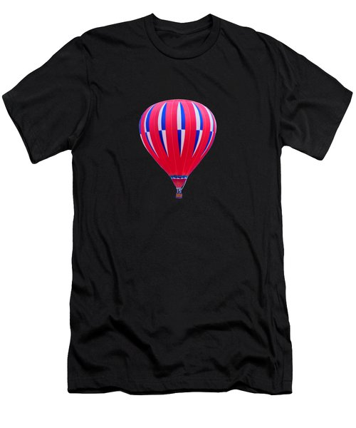 Hot Air Balloon - Red White Blue - Transparent Men's T-Shirt (Athletic Fit)