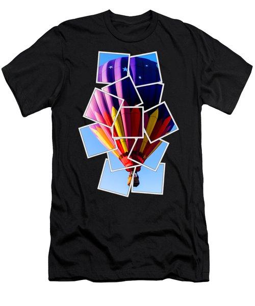 Hot Air Balloon Tee Men's T-Shirt (Athletic Fit)