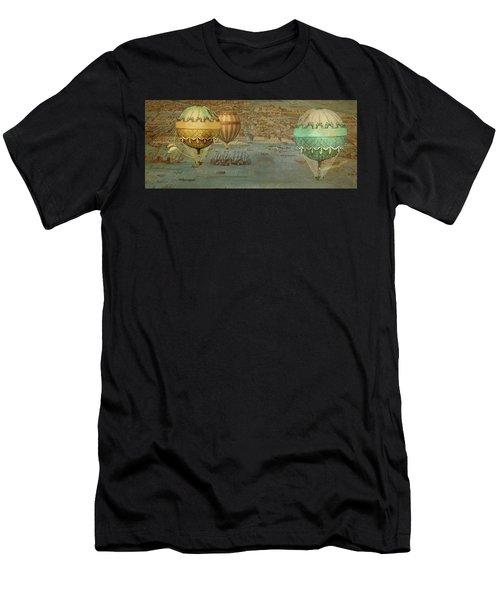 Men's T-Shirt (Slim Fit) featuring the digital art Hot Air Baloons Over Venus by Jeff Burgess