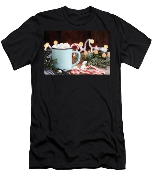 Hot Cocoa With Marshmallows And Candy Canes Men's T-Shirt (Athletic Fit)