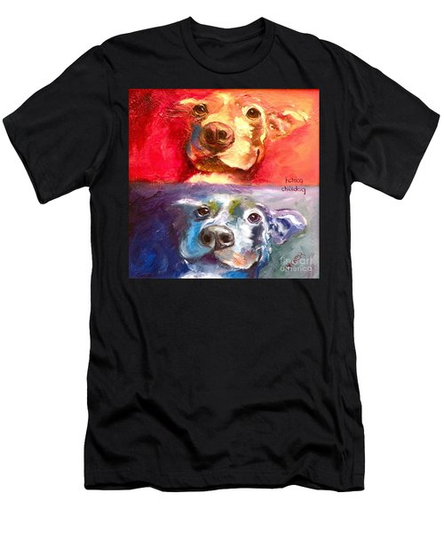 Hot Dog Chilly Dog Study Men's T-Shirt (Athletic Fit)