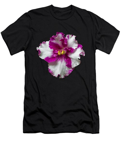 Hot Pink Flower Men's T-Shirt (Athletic Fit)