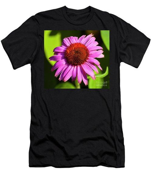 Hot Pink Flower Men's T-Shirt (Athletic Fit)