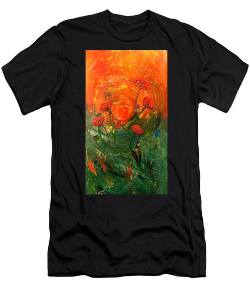 Hot Summer Poppies Men's T-Shirt (Athletic Fit)