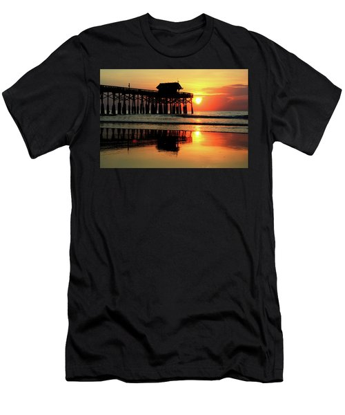 Hot Sunrise Over Cocoa Beach Pier  Men's T-Shirt (Athletic Fit)