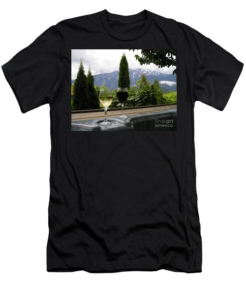Hot Tub And Wine Men's T-Shirt (Athletic Fit)