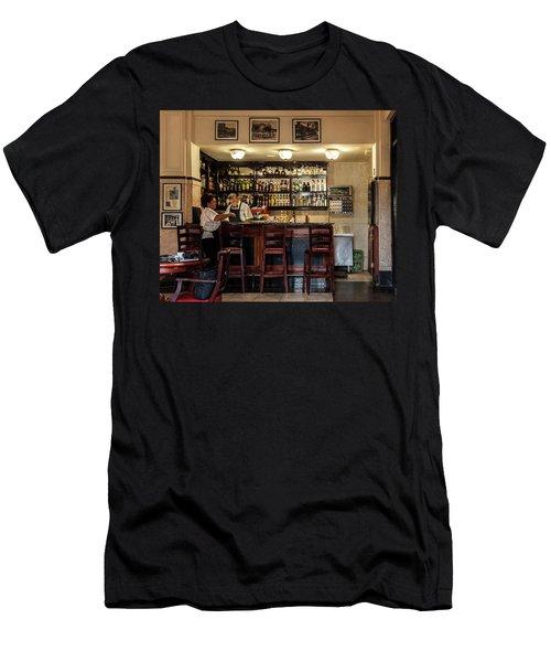 Hotel Presidente Bar Havana Cuba Men's T-Shirt (Slim Fit) by Charles Harden