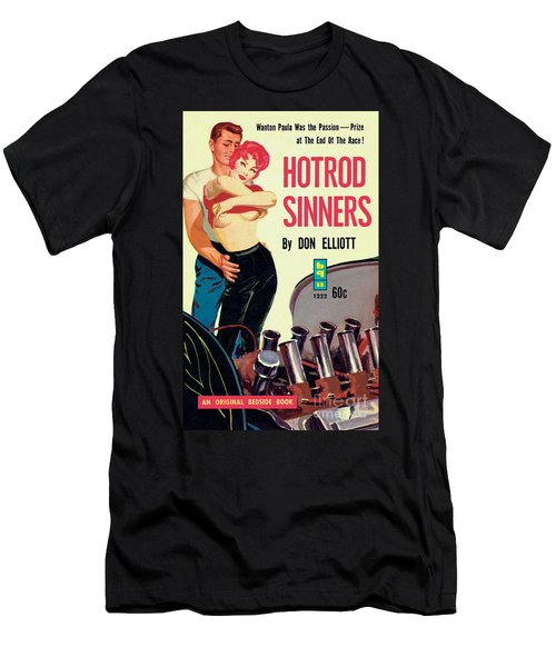 Men's T-Shirt (Slim Fit) featuring the painting Hotrod Sinners by John Duillo
