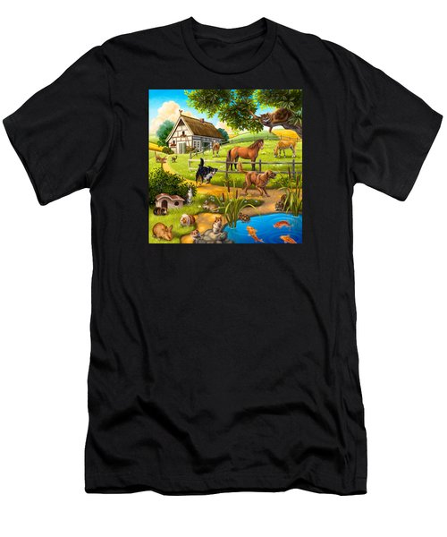 House Animals Men's T-Shirt (Athletic Fit)
