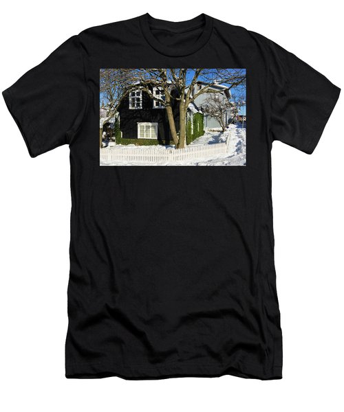 Men's T-Shirt (Slim Fit) featuring the photograph House In Reykjavik Iceland In Winter by Matthias Hauser