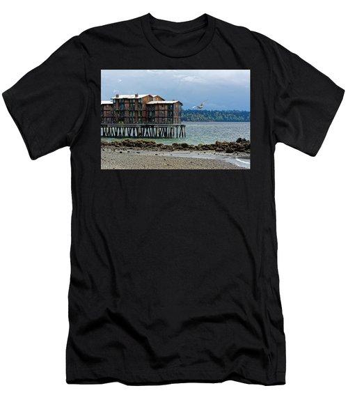 House On Stilts Men's T-Shirt (Athletic Fit)