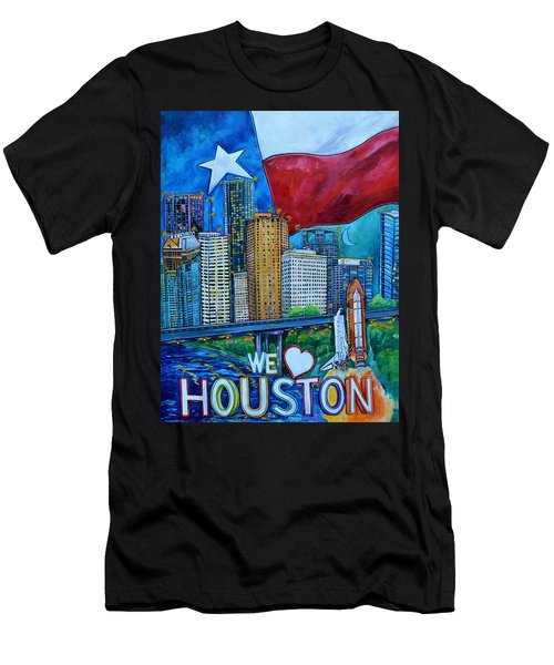 Houston Montage Men's T-Shirt (Athletic Fit)