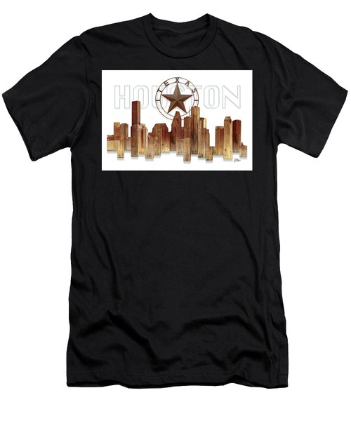 Houston Texas Skyline Men's T-Shirt (Athletic Fit)