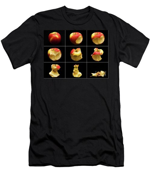 How To Eat An Apple In 9 Easy Steps Men's T-Shirt (Athletic Fit)