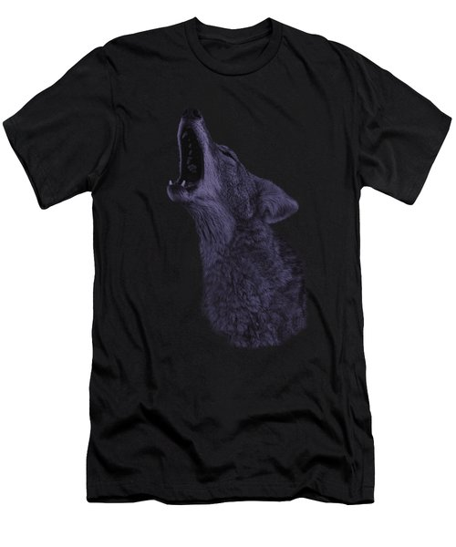 Howling Coyote Men's T-Shirt (Athletic Fit)