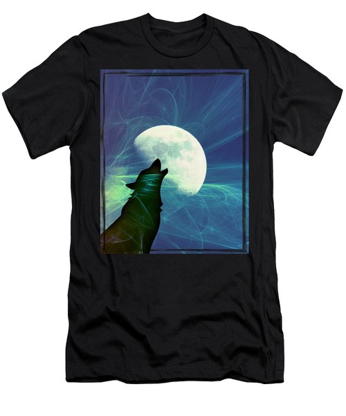 Men's T-Shirt (Slim Fit) featuring the photograph Howling Moon by Amanda Eberly-Kudamik