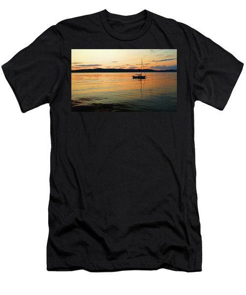 Hudson River From Irvington In Westchester County Men's T-Shirt (Athletic Fit)