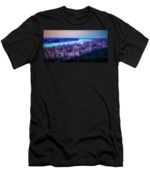 Men's T-Shirt (Athletic Fit) featuring the photograph Hudson River Sunset by Theodore Jones