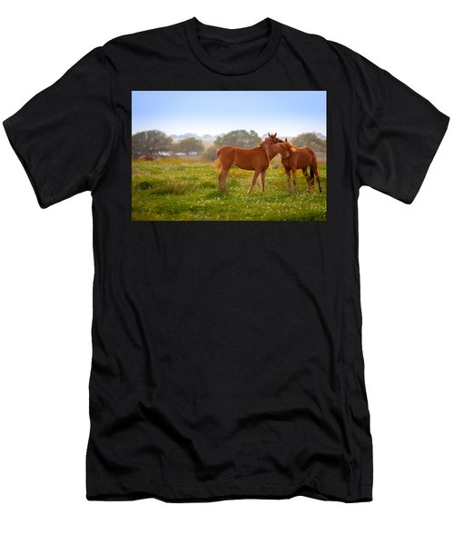 Men's T-Shirt (Athletic Fit) featuring the photograph Hug It Out by Melinda Ledsome