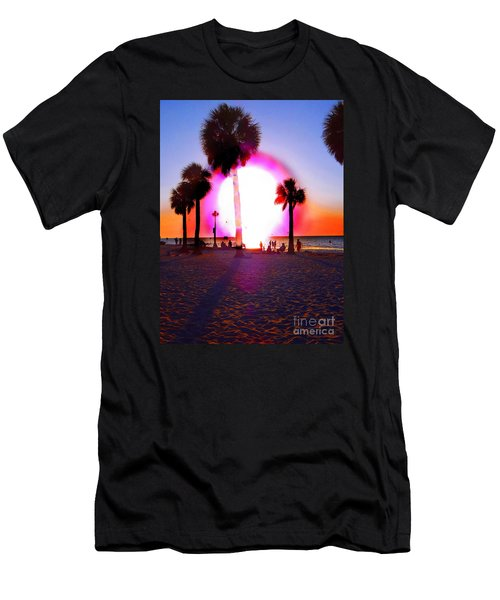 Huge Sun Pine Island Sunset  Men's T-Shirt (Athletic Fit)