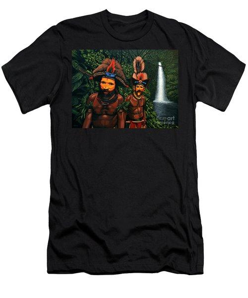 Huli Men In The Jungle Of Papua New Guinea Men's T-Shirt (Athletic Fit)