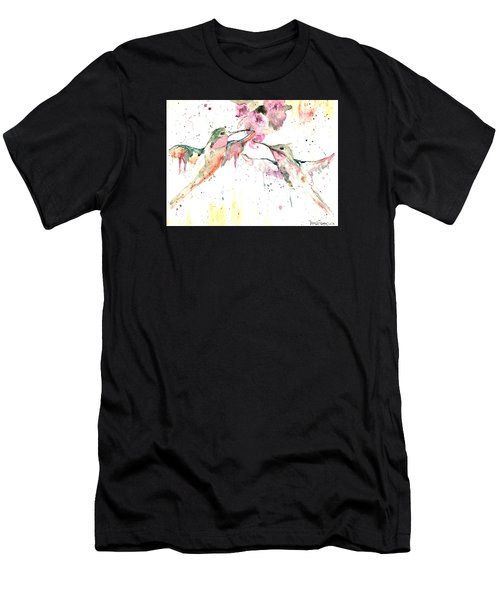 Men's T-Shirt (Athletic Fit) featuring the painting Hummers by Denise Tomasura
