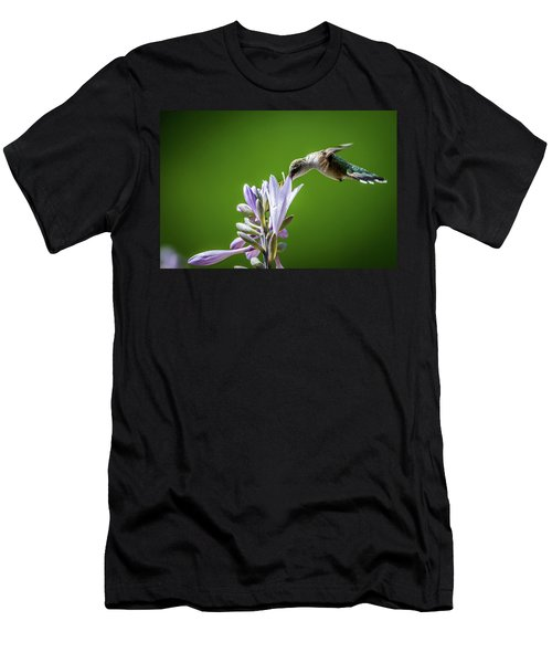 Humming Bird And Hosta Men's T-Shirt (Athletic Fit)