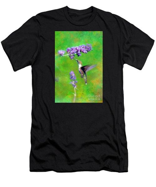 Humming Bird Visit Men's T-Shirt (Athletic Fit)
