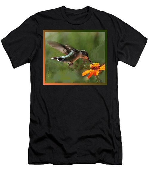 Hummingbird Art Men's T-Shirt (Athletic Fit)