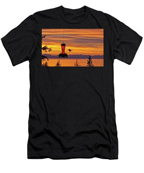 Hummingbird At Sunset. Men's T-Shirt (Athletic Fit)