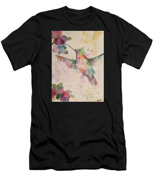 Men's T-Shirt (Athletic Fit) featuring the painting Hummingbird by Denise Tomasura