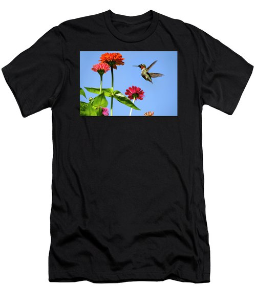 Hummingbird Happiness Men's T-Shirt (Athletic Fit)