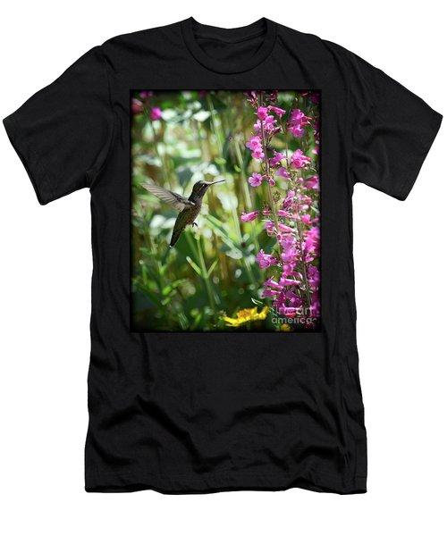 Hummingbird On Perry's Penstemon Men's T-Shirt (Athletic Fit)