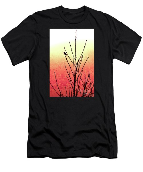 Sunset Peach Tree Men's T-Shirt (Athletic Fit)