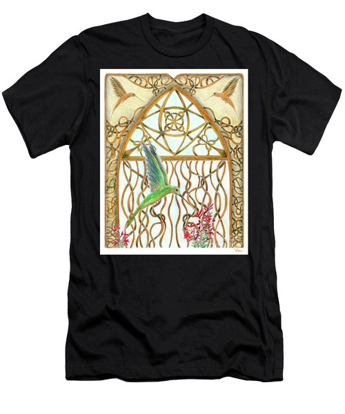 Hummingbird Sanctuary Men's T-Shirt (Athletic Fit)